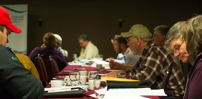 KFU members deliberate policy at the 2013 KFU state convention.