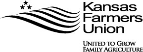 Kansas Farmers Union Logo BW