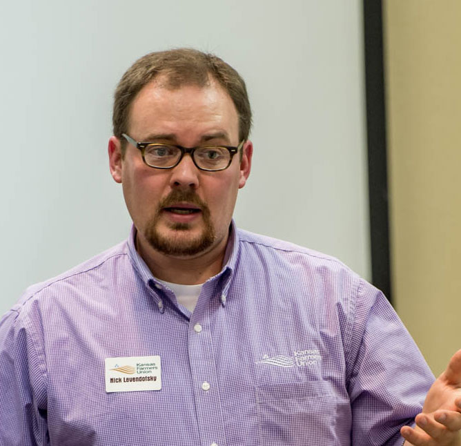 Nick Levendofsky discusses the 2015 Kansas Family Farm Day planning.