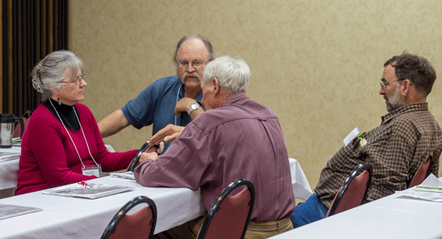 KFU members discuss policy at this year's convention.