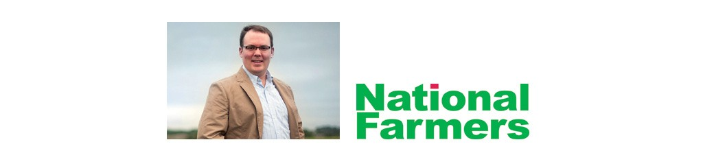 Levendofsky photo and National Farmers logo
