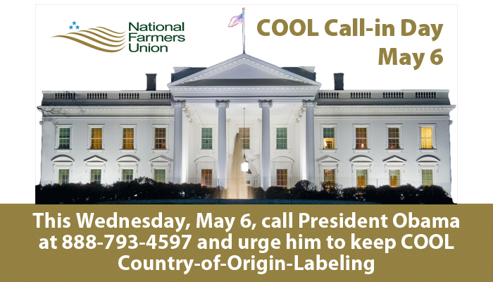 Keep COOL Call-in Day May 6, 2015