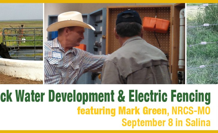 Livestock Water Development and Electric Fencing, September 8 in Salina