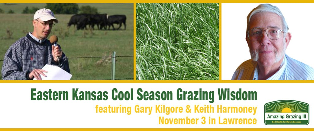 Cool Season Grazing Wisdom, November 3 in Lawrence