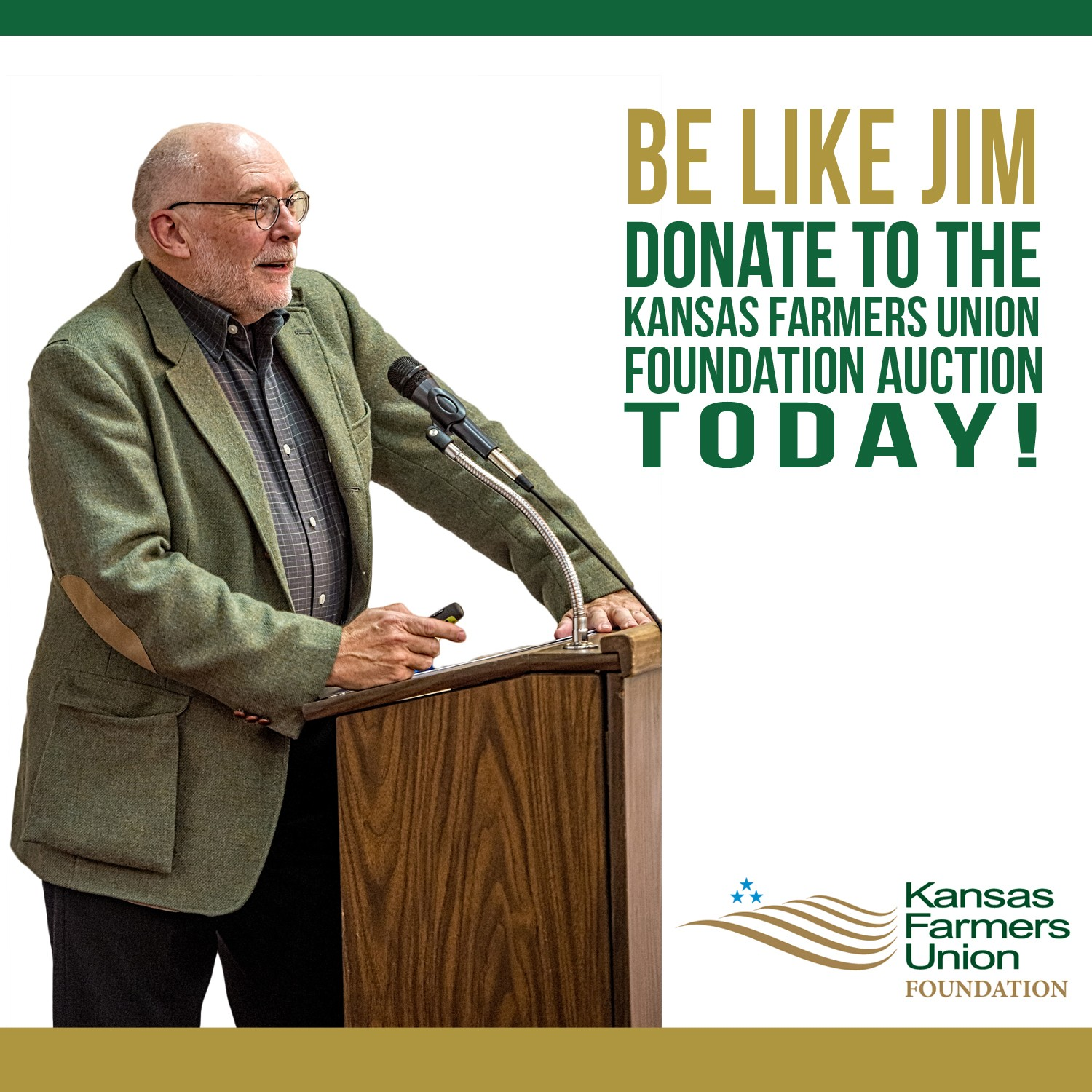 Be like Jim 2015 KFUF Auction Promo