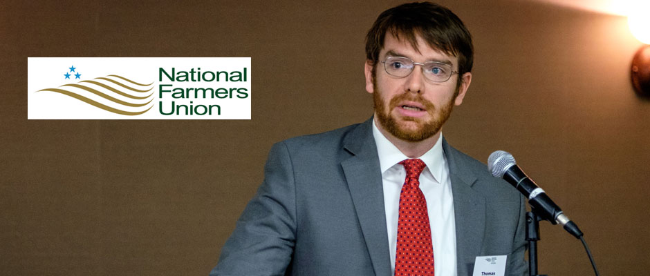 Tom Driscoll, Government Relations Representative with NFU, works on environmental, conservation, energy and climate issues on behalf of family farmers with National Farmers Union.