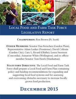 2015 Local Food and Farm Task Force Legislative Report Cover