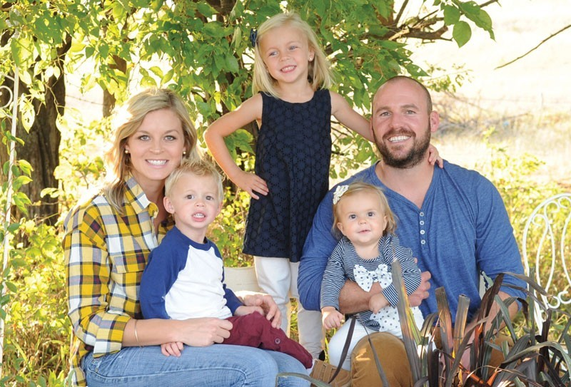 Outgoing office manager Callie Kramer and her family: Finn, Adeline, Lindy and Brad.