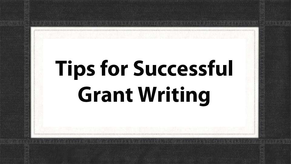 Grant Writing Tips PowerPoint Cover