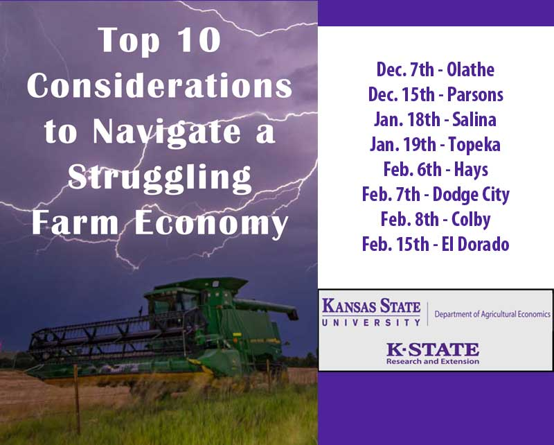 Parsons: Top 10 Considerations to Navigate a Struggling Farm Economy