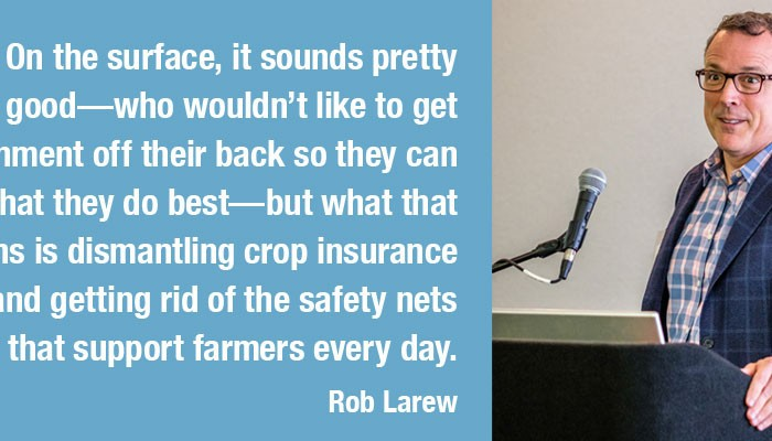 Quote from Larew, NFU Senior Vice President of Public Policy and Communications