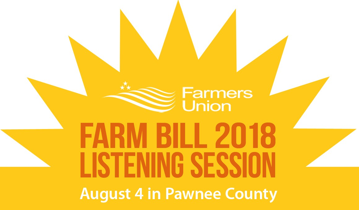 Farm Bill Listening Session: August 4 in Pawnee County