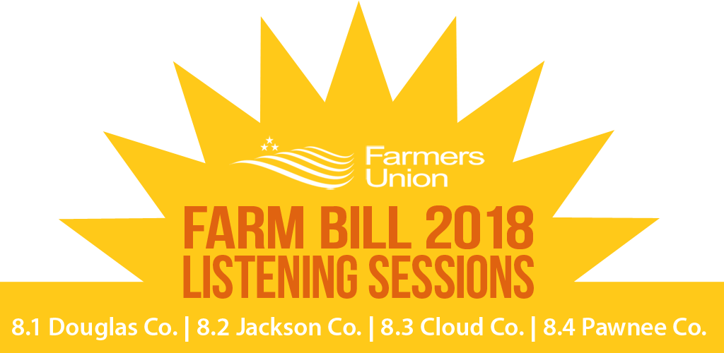 Four Farm Bill Listening Sessions Across Kansas August 1-4
