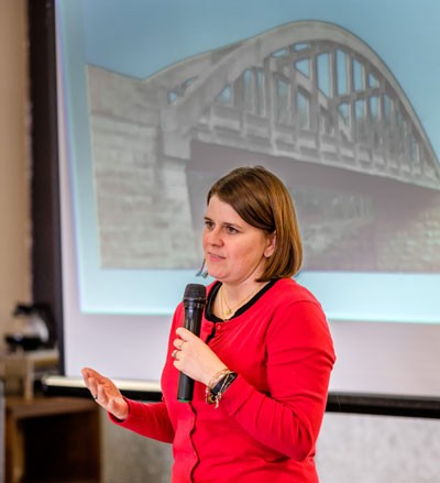Sarah Green discusses the concept of bridges.