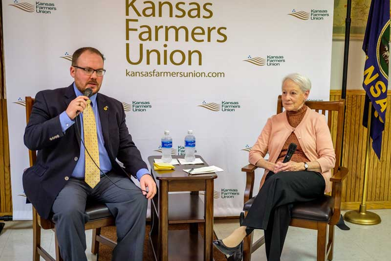"In the convention keynote, ""Thoughts and Reflections on the Farm Crisis of the 1980s, and How We Came Through It,"" Senator Kassebaum Baker had a conversation with former KFU V-P Nick Levendofsky about her time in the Senate, her role in the Farm Crisis of the late 70's and early 80's, women in politics, and how things have changed since she left office 20 years ago. Check out the Facebook Live video."