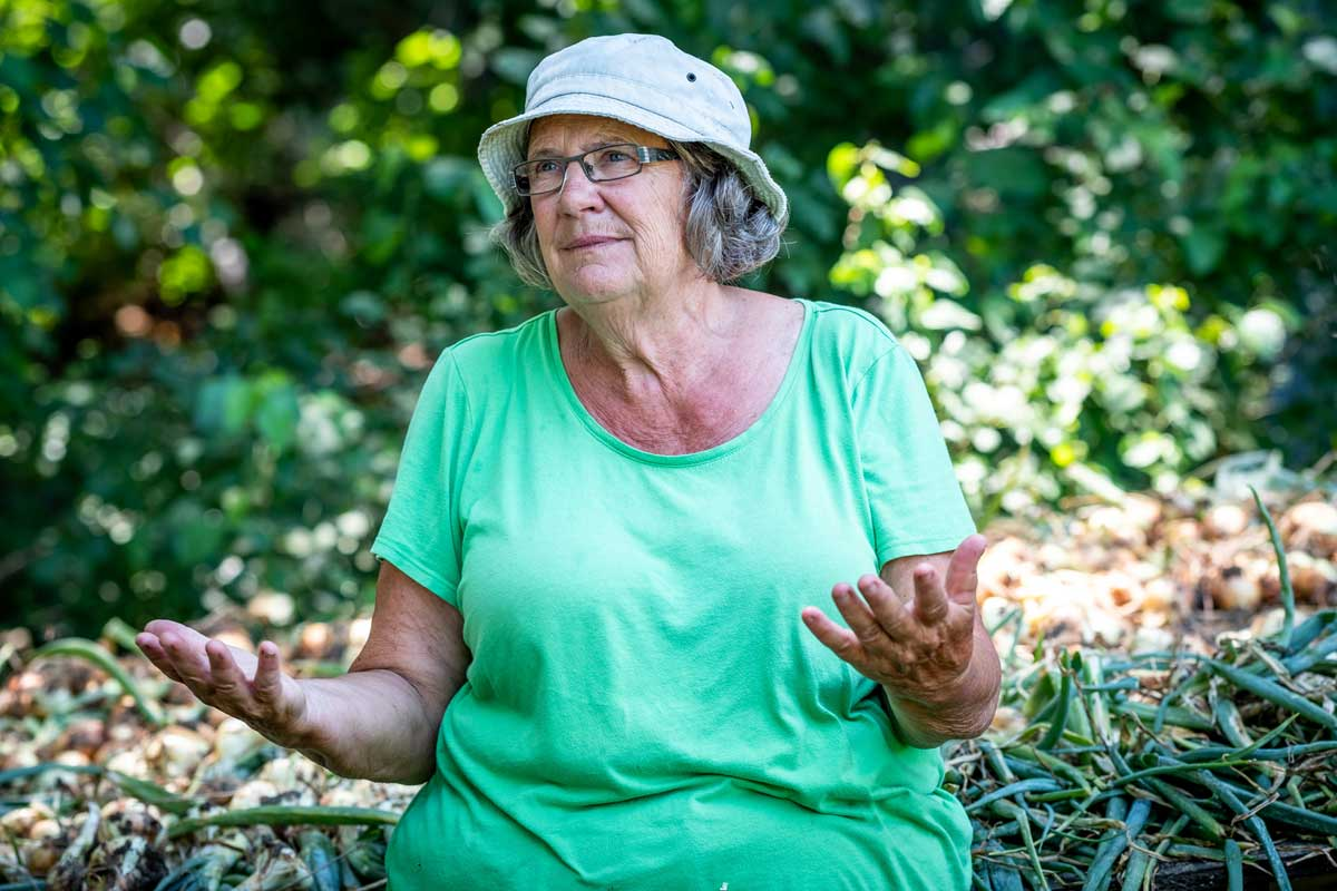 Since 1976, Denise O'Brien's Rolling Acres Farm has been involved in organic production and cultivating local food markets.