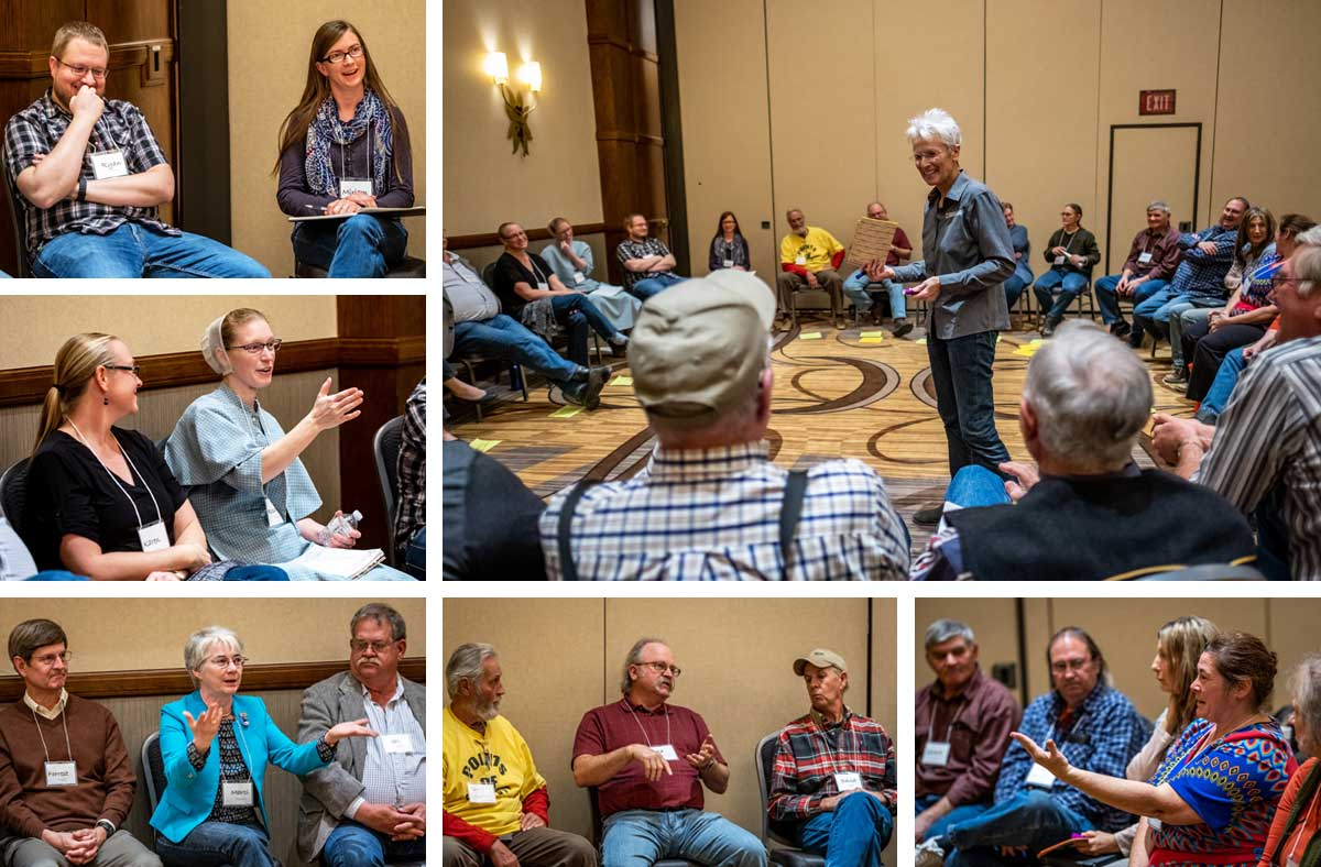 "Kansas Sampler Foundation executive director Marci Penner led an energetic interactive session, ""Let's Talk: Making rural a quality choice"" on the first day of the Kansas Farmers Union convention."