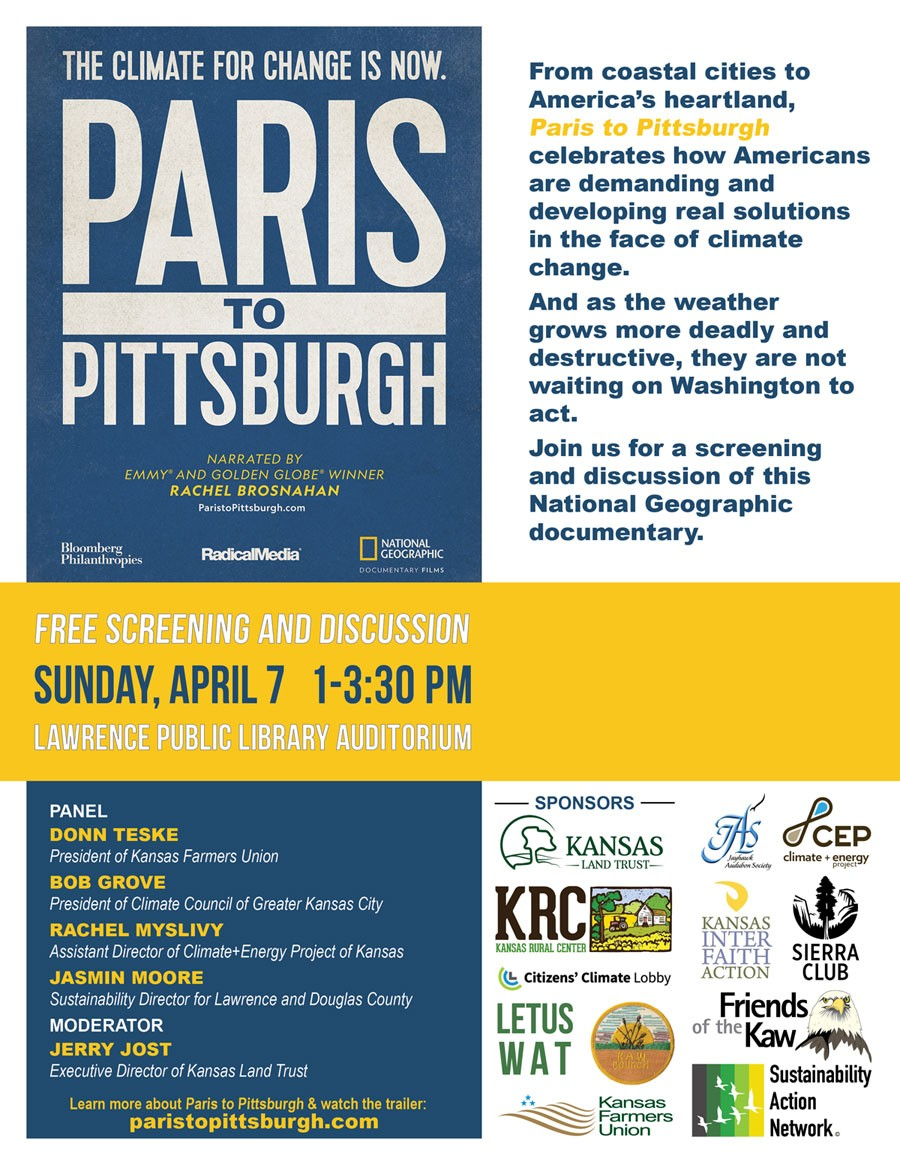 Paris to Pittsburgh Lawrence Screening Flyer