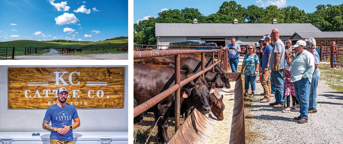 Patrick Montgomery of KC Cattle Company in Weston, MO. specializes in Wagu cattle.