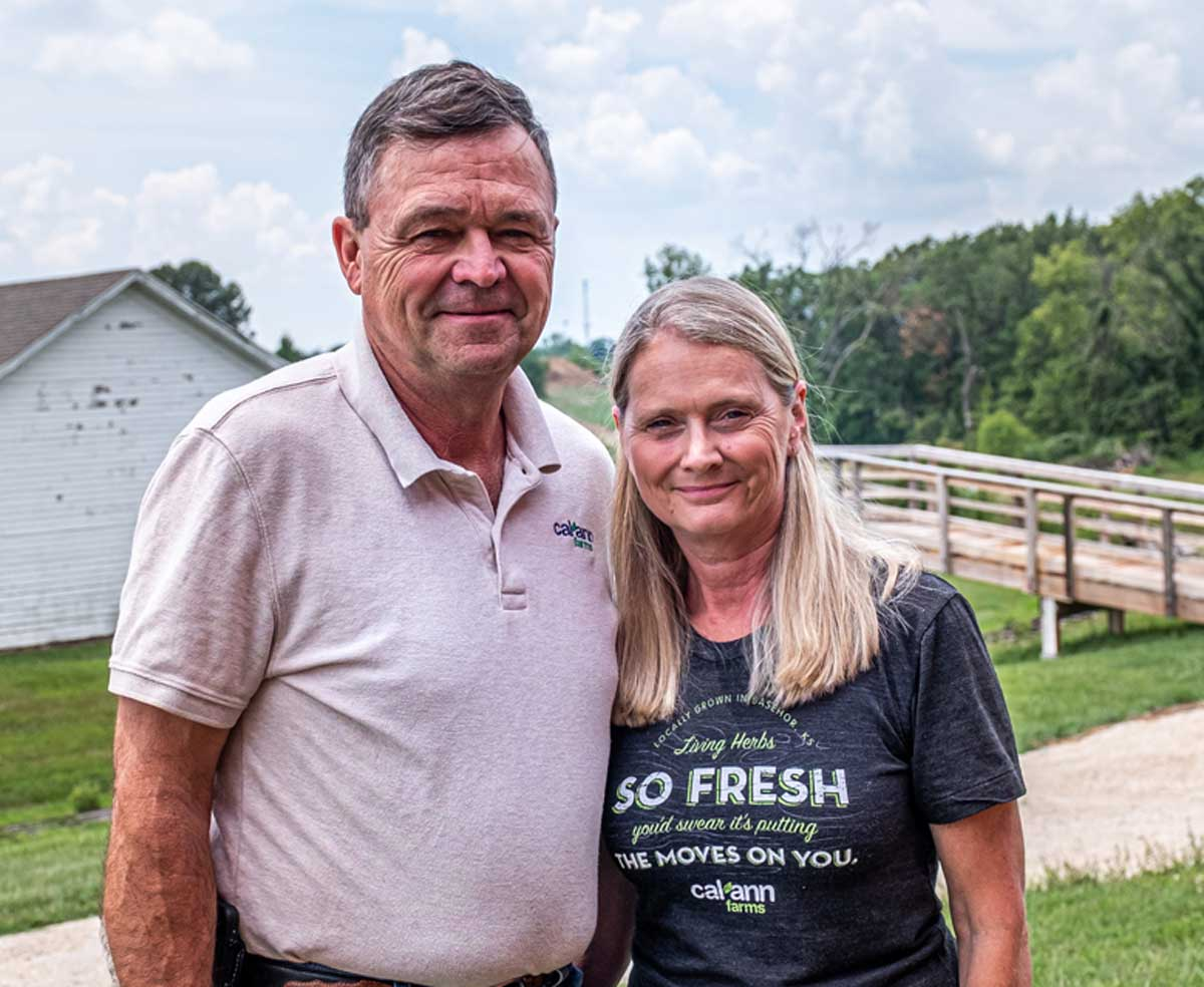 Jeff and Pam Meyers, Cal Ann Farm, have shifted from production to consultation services on aquaponic and hydroponic growing methods.