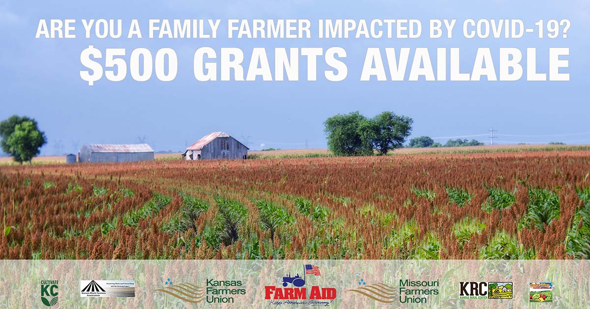 $500 Farm Aid COVID-19 Relief Grants Available.