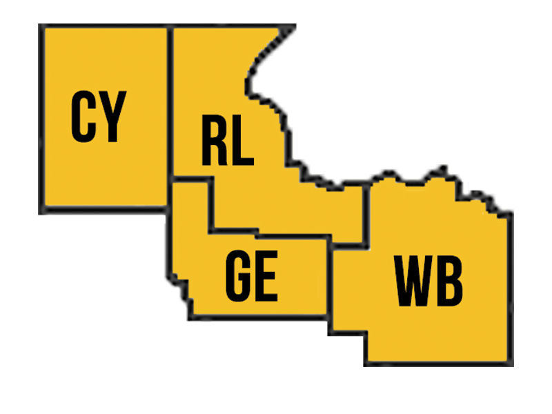 Clay + Geary + Riley + Wabaunsee