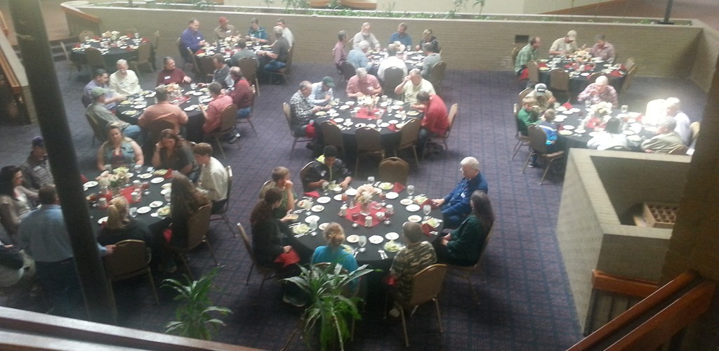 Attendees at lunch.