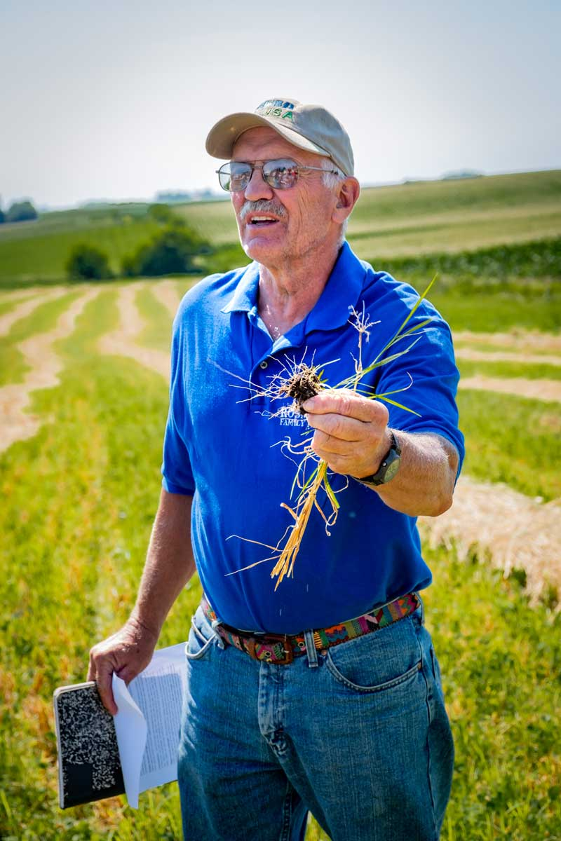 Ron Rosmann's 700-acre farm is known for its diversification, direct marketing, and research & experimentation. Certified organic since 1994, they raise corn, soy, small grains, cattle and hogs and run an on farm store marketing directly to consumers.
