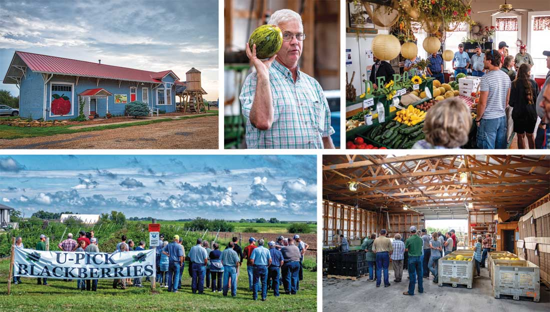 The Depot Market north of Courtland is housed in the 120 year-old Santa Fe & Rock Island Railroad depot. Dan Kuhn's family has farmed around Courtland since 1979. In 1989 they relocated the depot to its current location and rehabilitated it. About 90 percent of the business is wholesale.